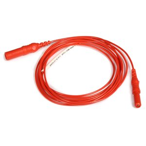 "KING Interconnection Cable 1.5mm Female TP Conn. to Male TP Conn. Length 36"" (91 cm) Red, Qty 1"