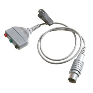 Shuttle Cable 24 inch, with 3 touch proof sockets terminating in a 5 PIN DIN plug