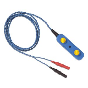 NATUS Reusable BiPolar Bar Electrode, Gold Plated Flat Discs 1.0m Leadwire, DIN Connector