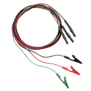 """Natus Alligator Clip Cable 1.25m (50"""") Set of 3 Red, Green, Black"""